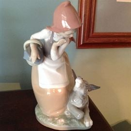 Lladro Girl with Dog - $ 70.00
