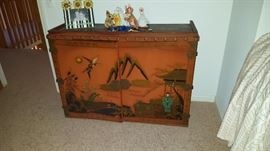Painted Oriental Cabinet