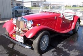 1985 MG TD Volkswagen Kit Car, 5908 Miles, Designed To Look Like 1952 British MG TD, VIN# DR133329MO, Classic Car ID# M1158
