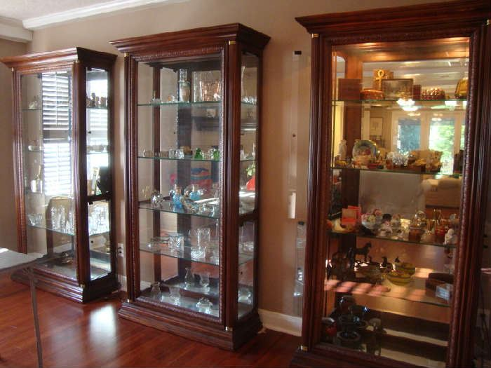 Four quality Display / Curio Cabinets