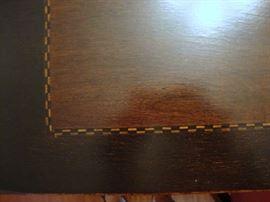Inlaid wood trim on Dining Set