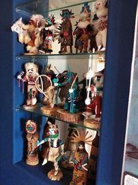 "Collection of 12"" Kachina dolls.  Various artists."