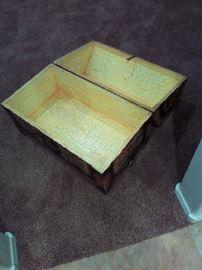 Interior of Sunflower chest.