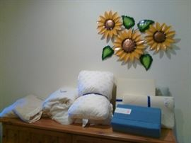 Pillows and linens.