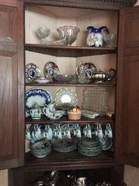 Assorted Imari, Pressed Glass, Italian Ceramic Dinnerware