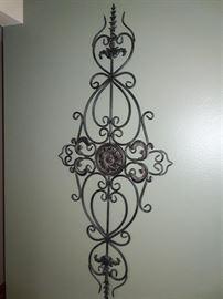 (2) matching decorative metal wall art.