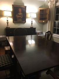Mahogany Dining Room table with six chairs