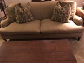 Lee Industries sofa with pillows