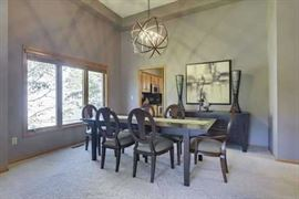 Cherry Dining Room Table with 2 Leaves, 8 Dining Chairs; 2 Arm Chairs and 6 Side Chairs and Cherry Buffet Cabinet