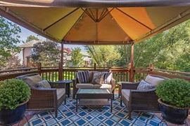 Woven Outdoor Furniture: Loveseat, 2 Chairs, Glass Top Coffee Table and Pair of End Tables and Indoor/Outdoor Rug