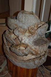 Lava rock fountain