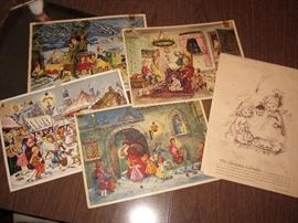 Vintage Christmas advent calendars