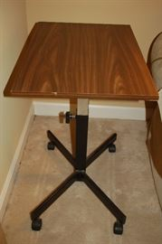 Adjustable end table