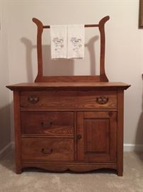 Victorian wash stand front.