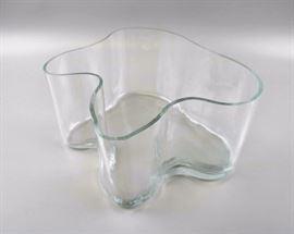 Alvor Aalto Ii Glass Bowl Signed