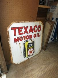 30x30  Vintage Double Sided Texaco Sign