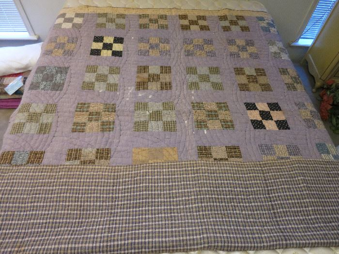 9 Patch Quilted Before 1925