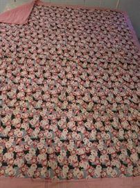 Pink Back Floral Quilt,  1938