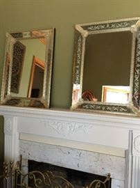 PAIR of VENETIAN mirrors