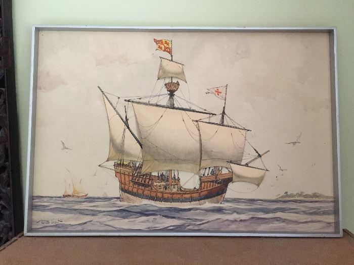 Original 3d Gordan Grant watercolor