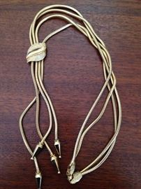 Francois Mid Century Modern gold tone slide necklace