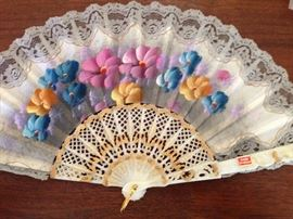 Hand painted fan, made in Spain
