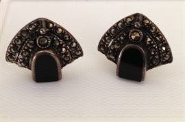 Marcasite and sterling earrings