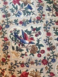 Bird of Paradise fabric on swivel chairs