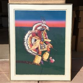 """Native American Painting. 42.5""""h x 34""""w"""