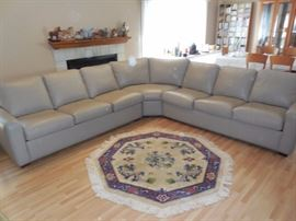 American Leather from House of Denmark Taupe Leather Sectional