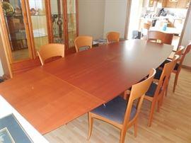 House of Denmark Teak Dining Table Inlay Detail