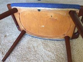 Vintage Hans Wegner Chair & Ottoman