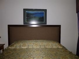 King Size Padded Headboard and matching bed fame