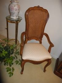 One of the dining room chairs