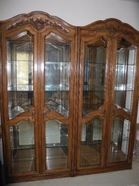 Two curio cabinets (can be bought separately of course)