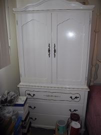 French Provincial armoire with bedroom set