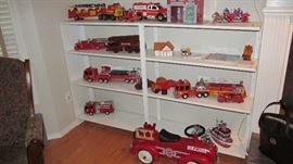 HUGE TOY FIRE TRUCK COLLECTION