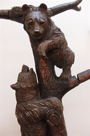 Wonderful Carved bear coat rack