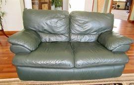 Green Leather Loveseat