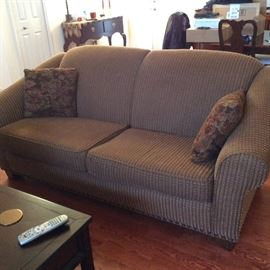 PRISTINE SOFA IN MINT CONDITION HAS A MATCHING LOVE SEAT