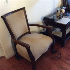 FAUX SUADE SIDE CHAIR
