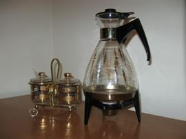 1950s coffee and serving dishes