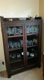 Vintage display cabinet $175