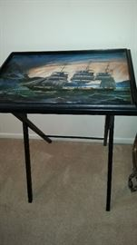 Handpainted Pirate Ship Serving tray - 35