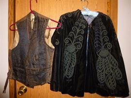 1900's Man's Vest and Woman's Velvet Cape