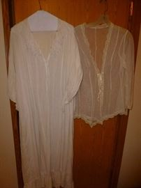1900's Night Gown and Bed Jacket