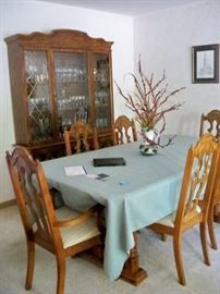 Dinning Table & Chair-Lighted China Cabinet