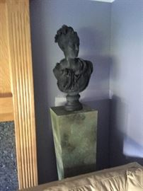 Large chalk ware bust of a French royal lady after Carrier-Belleuse.