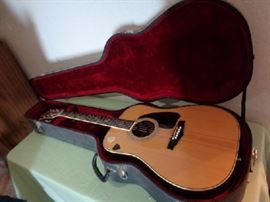 Ibanez Vintage guitar  Good shape! Ibanez V390 Dreadnaught spruce/rosewood with beautiful pearl inlay  Black hard case