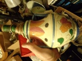 hand painted italy lamp.